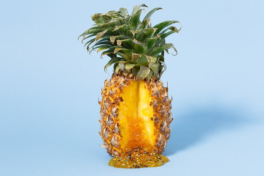 erotisch fruit ananas groot lengteverschil